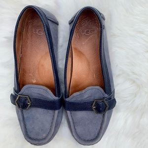 Ugg blue Loafers size 5
